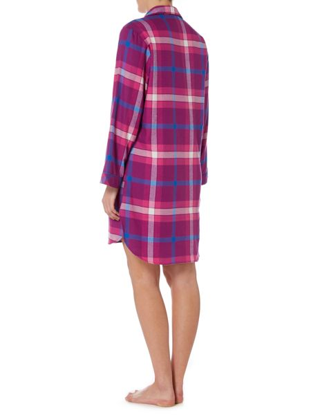 Cyberjammies Magenta check nightshirt