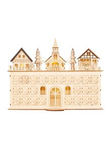 Linea Large light up wooden house advent calendar