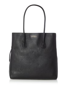 Coccinelle Celly black flap-over large tote bag