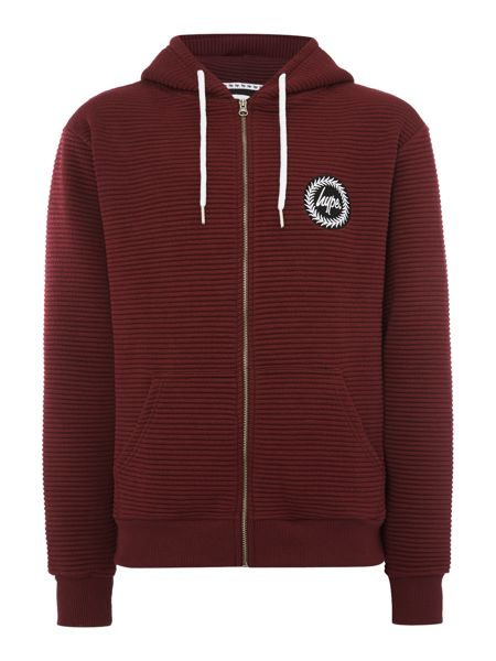 Hype Ribbed zip through Hoodied Sweat Top
