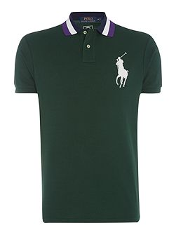 Wimbledon contrast side polo