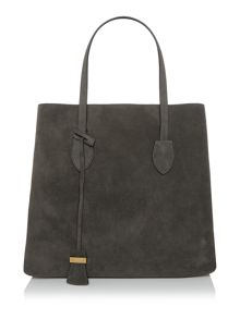 Coccinelle Celene Suede grey shoulder tote bag