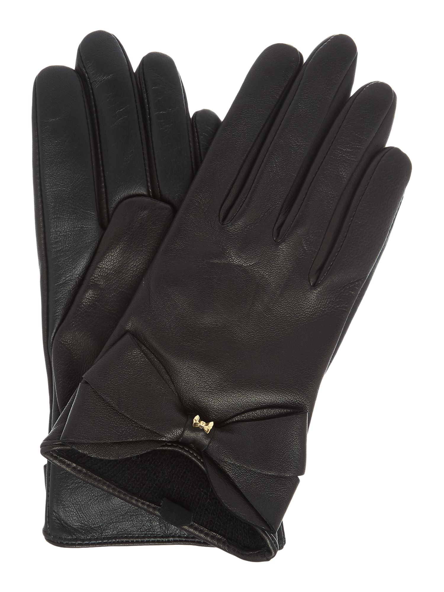 Ladies leather gloves blue - Vintage Style Gloves Ted Baker Lynna Large Bow Leather Glove 75 00 At Vintagedancer Com