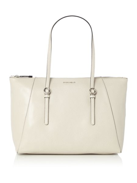 Coccinelle Mel neutral tote shoulder bag
