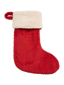 Linea Red waffle fleece stocking