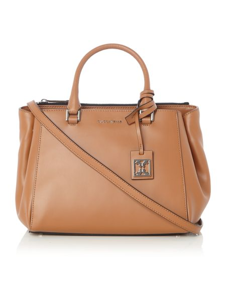 Coccinelle Dafne Calf tan medium tote crossbody bag