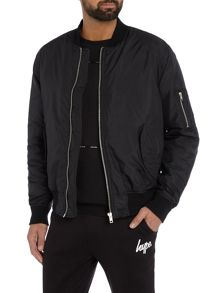 Hype Nylon Zip Through Bomber Jacket
