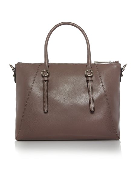 Coccinelle Mel taupe tote crossbody bag