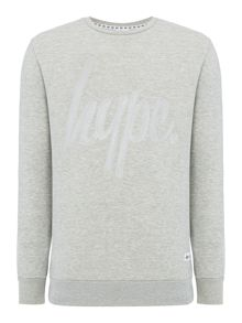 Hype Logo Stitch Crew Neck Sweat Top