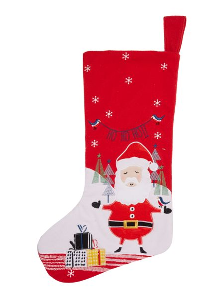 Linea Red santa stocking