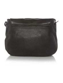 Coccinelle Rika black saddle crossbody bag
