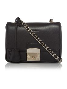 Coccinelle Margo black chain crossbody bag