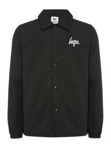 Hype Button Down Script Logo Coach Jacket