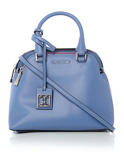 Dafne calf blue small dome cross-body bag