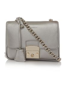 Coccinelle Margo silver chain crossbody bag