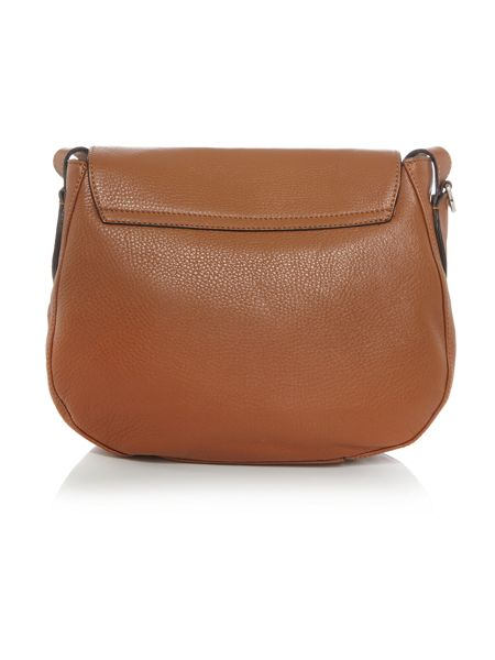 Coccinelle Rika tan saddle crossbody bag