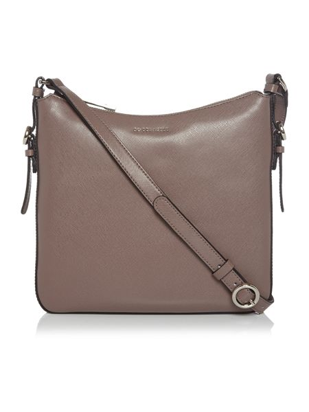 Coccinelle Mel taupe crossbody bag