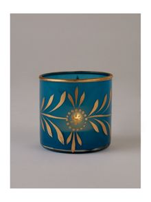 Shabby Chic Glass blue tea light holder