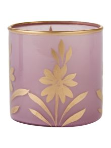 Shabby Chic Glass purple tea light holder