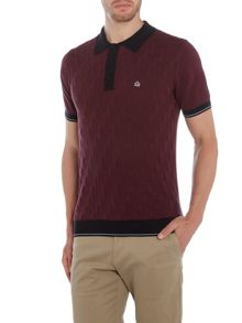 Merc Merc Short Sleeve Diagonal Stick Knitted Polo