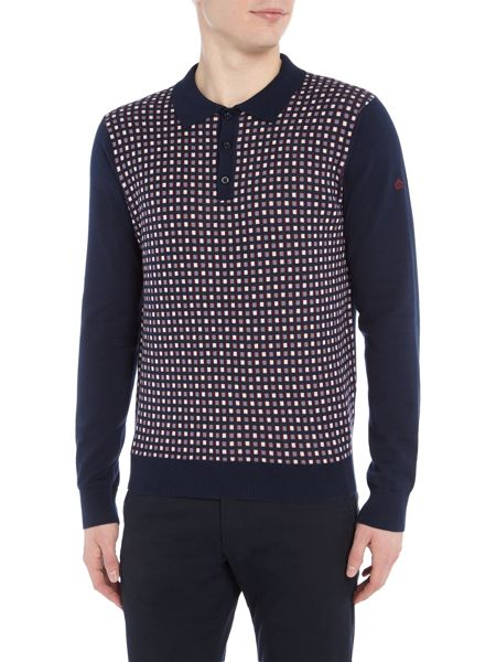Merc Long SleeveGeo Jacquard Polo