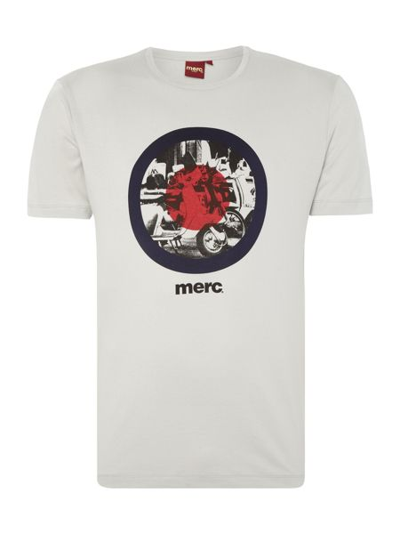 Merc Short Sleeve T-Shirt with Target Scooter Print