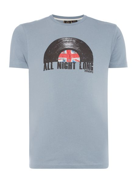 Merc Short Sleeve T-Shirt with Record Print