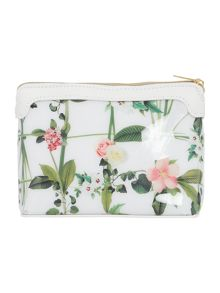 Ted Baker Ailanie white cosmetic bag