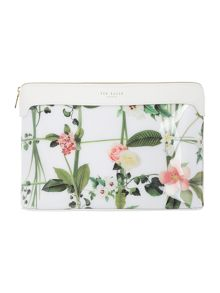 Ted Baker Tavvi white large cosmetic bag