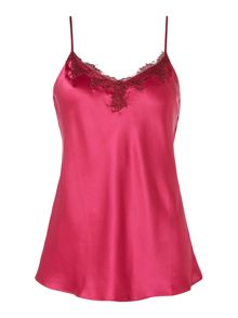 Ginia Silk camisole top with lace detailing