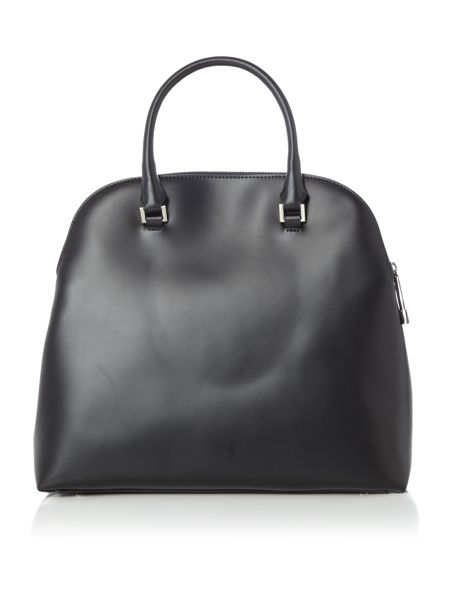Coccinelle Dafne calf black large double zip dome bag
