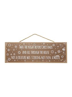 Twas the night before Christmas light up sign