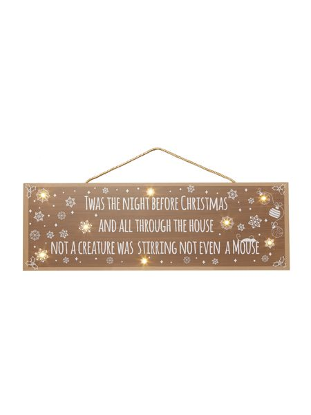 Linea Twas the night before Christmas light up sign