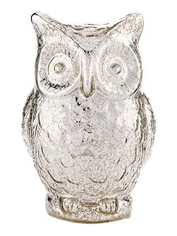 Light up silver owl