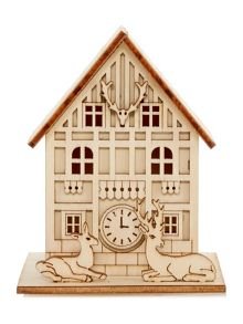 Linea Small light up wooden house