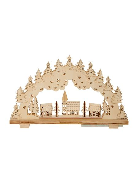 Linea Wooden arch light up decoration