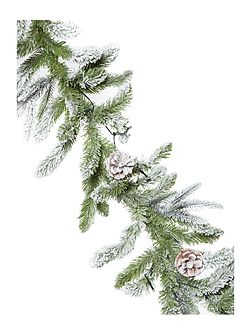 Light up snow covered garland