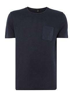 Tiburt Regular Fit Nylon Pocket Front T Shirt
