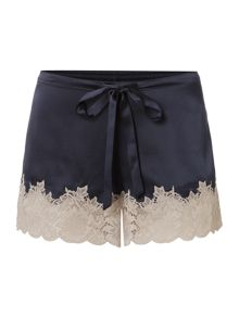 Ginia Silk short with lace detailing