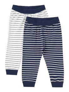 name it Babys 2 Pack Stripe Print Trousers
