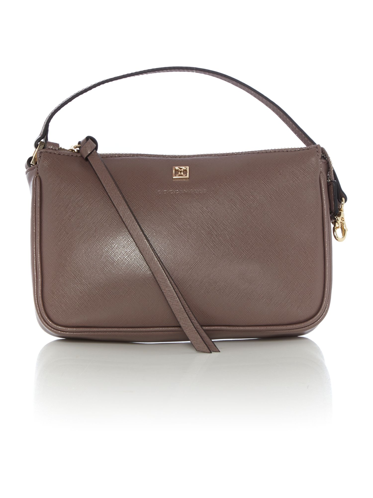 Coccinelle Coccinelle Taupe cross body pouch, Taupe