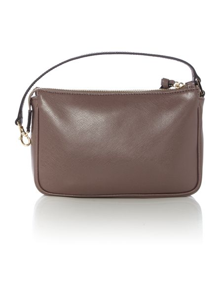 Coccinelle Taupe cross body pouch