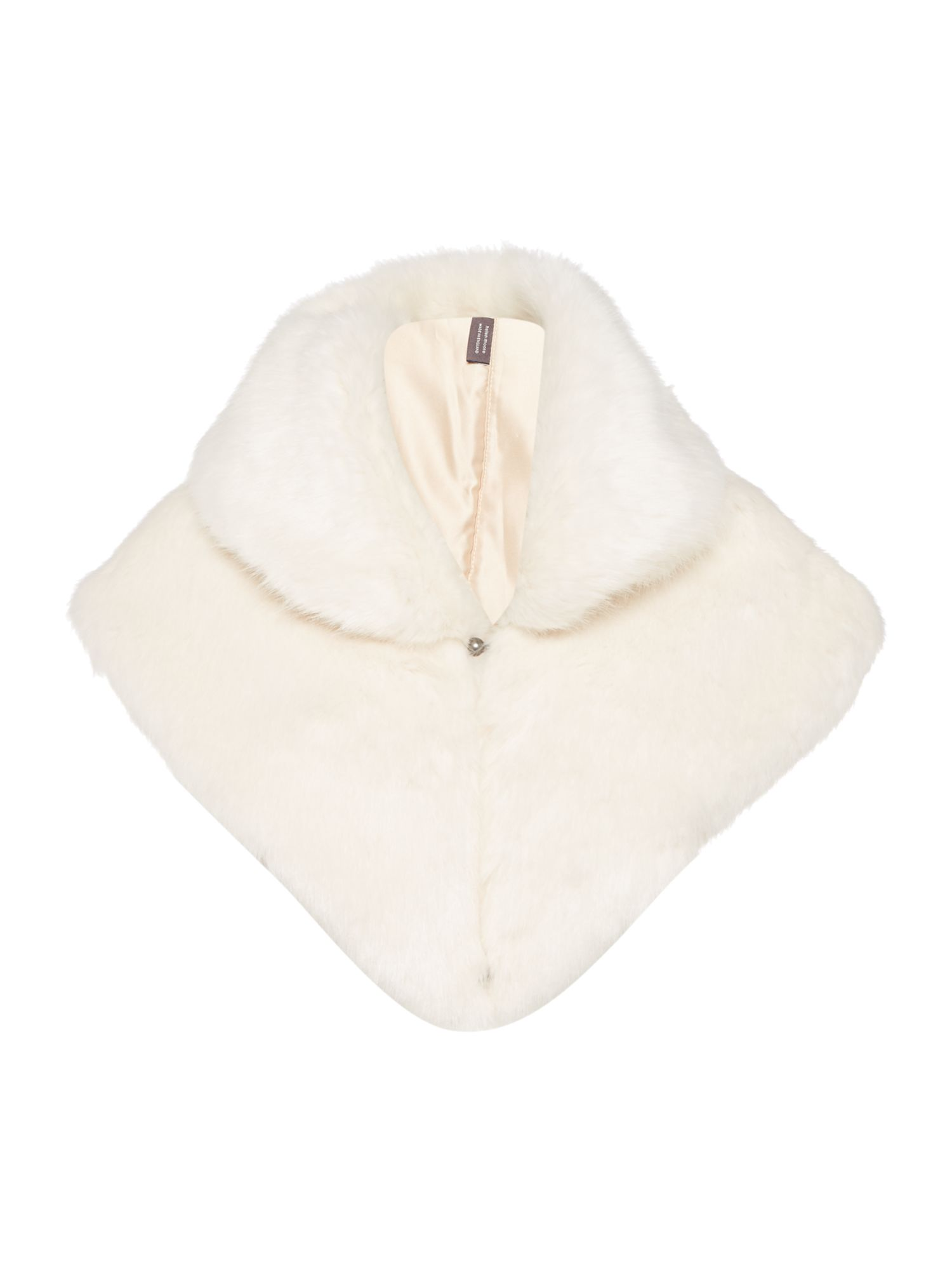 Helen Moore Helen Moore Gregory faux fur wrap, Cream