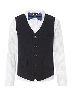 Boys Waistcoat with Polka Dot Shirt and Bow