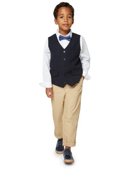 Howick Junior Boys Waistcoat with Polka Dot Shirt and Bow Tie