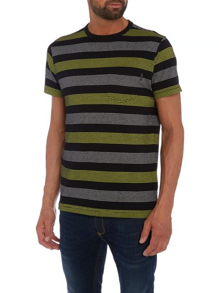 Duck and Cover Locas stripe jaquard t-shirt