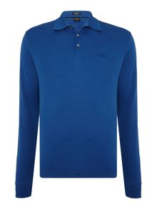 Hugo Boss Phillian Regular Fit Long Sleeve Logo Polo Shirt