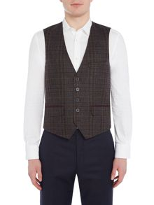Ted Baker Spiral Check Waistcoat