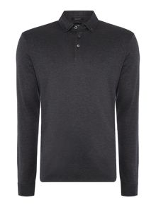 Hugo Boss Pickell Reg Fit Micro Pattern Liquid Cotton Polo