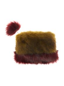 Helen Moore Faux fur two tone small clutch bag